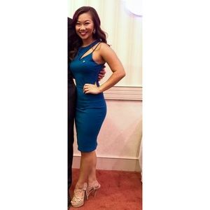 Size small teal bodycon dress